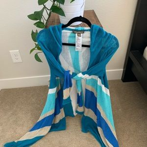 Tommy Bahama blue stripe light cardigan